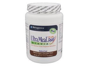 Metagenics, UltraMeal Plus 360 Stevia Natural Dutch Chocolate Flavor 22.2 oz