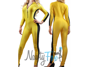 Yellow Kill Bill/Bruce Lee Inspired Bodysuit