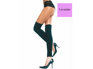 Sexy Womens Lavender Acrylic Footless Thigh High Leg Warmer