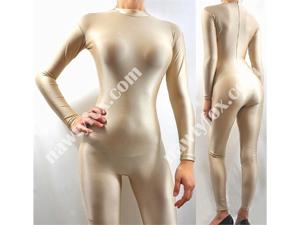 Nude Mock Neck Long Sleeve Unitard