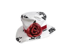 Victorian Black White Paisley Mini Top Hat