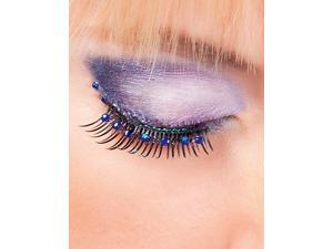 Black Blue Rhinestone False Eyelashes Extensions Baci Glamour