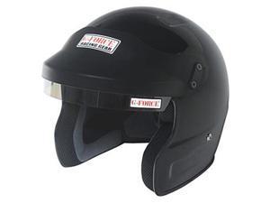 G-FORCE 3021LRGBK Pro Phenom Open Face Helmet Large Black