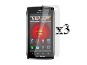Motorola Droid 4 Anti Glare Screen Protector for New Motorola Droid 4 XT894 Super Combo Pack of 3 + Lint Cleaning Cloth