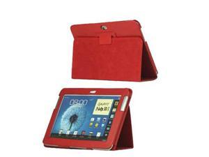 Red Stand PU Leather hard Folio Case Cover For Samsung Galaxy Note 10.1 New non OEM