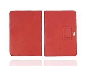 Premium galaxy tab Leather Flip Stand Hard Folio Case Cover fr Samsung Galaxy Note 10.1 (RED)