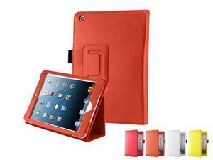ORANGE Flip Magnetic Book Folio Stand Leather Cover Case for Apple iPad Mini - Generic
