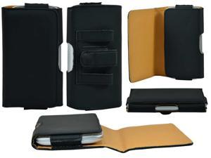 Belt Clip Horizontal Leather Magnetic Closure Pouch Cover Case for Samsung Galaxy S3 S III i9300 - Black