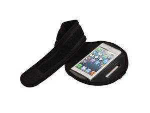SmackTom Premium Sports Classic Armband Look with Cellphone Carrier for Apple iPhone 5 - In Black Color