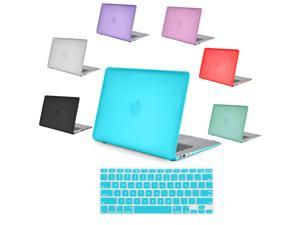 """TIFFANY BLUE Frosted Matte Rubber Coated Rubberized SeeThru Hard Snap On Case for Apple 13"""" inch MacBook Air - With Silicone ..."""
