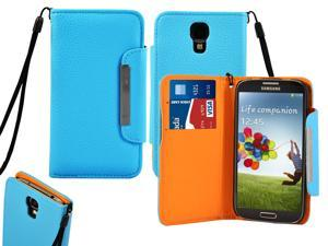 Premium Magnetic Flip Leather Cover for Samsung© Galaxy© S4 i9500 Wallet Case -Generic