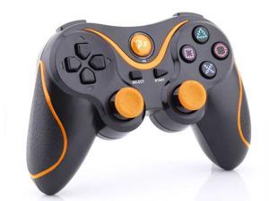 2 X Sony Playstation 3 PS3 -  Wireless Doubleshock Bluetooth Game Pad USB Controller - Black w/ Orange Stripe - Perfect Gamming ...