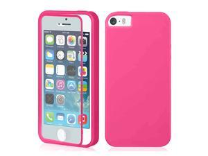 For Apple iPhone 5 5S TPU Wrap Up Phone Case Cover with Built In Screen Protector - Multi Color Option