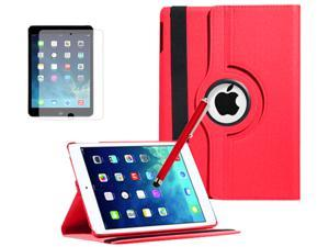 """Newest 9.7"""" Retina iPad Air Accessories Pack - 360 Rotating Leather Magnetic Stand Swivel Case Cover + Screen + Stylus Capacitive ..."""
