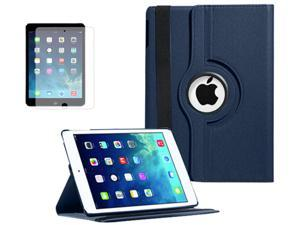 New Smart Rotating For Apple iPad Air 5 Magnetic PU Leather Stand Case Folio Cover w/ FREE Screen Protector