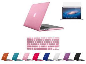 "For Macbook Pro 15.4"" 15"" Retina_Rubberized Matte Hard Case Cover Mac A1398 w/ Free Keyboard Skin + Screen"