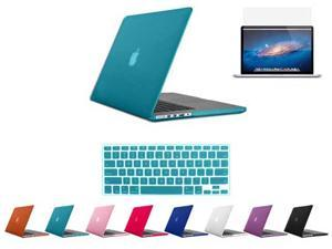 For Macbook Pro 15 Retina_Rubberized Matte Hard Case Cover Mac Book A1398 w/ Free Keyboard Skin + Screen