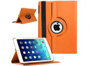 """360 Degrees Rotating Stand Leather Smart Cover Case For Apple iPad Air 5 Retina Display 9.7"""" With Wake/Sleep Capability - ..."""