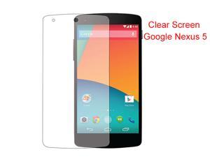New Clear LCD Screen Protector Shield Skin for Google Nexus 5
