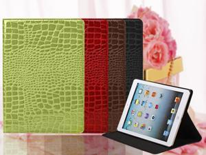 Multi Colors Crocodile PU Skin Leather Folio Smart Magnetic Case Cover Protect With Stand For iPad Air (2013) 5 Gen - Black