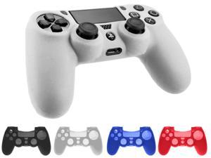 Silicone Case Rubber Soft Gel Skin Cover Shell For Sony Playstation 4 PS4 Controller - White