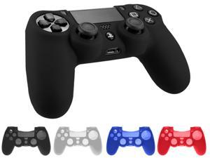 Silicone Case Rubber Soft Gel Skin Cover Shell For Sony Playstation 4 PS4 Controller - Black