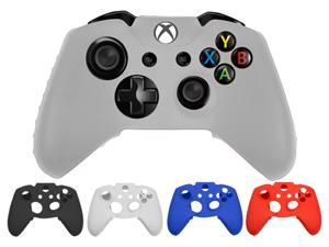 Best Silicone Case Cover Skin Cap Protector for Microsoft Xbox One Gaming Game Controller - White