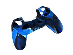 BLUE - Camouflage Pattern Silicone Rubber Case Skin Grip Cover for PS4 Game Sony Playstation 4 Controller