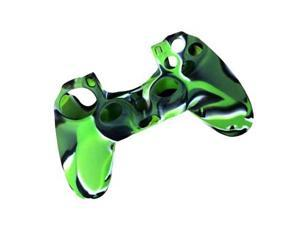 GREEN - Camouflage Pattern Silicone Rubber Case Skin Grip Cover for PS4 Game Sony Playstation 4 Controller