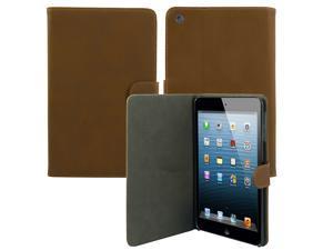 For iPad Mini/ iPad Mini 2/ iPad Mini 3 Magnetic PU Leather Folio Stand Case Smart Cover - Brown