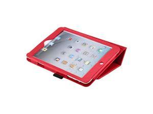 Cover Cases for New Apple iPad Mini - Flip Folio PU Leather Sleep Wake Function Premium Skin Protective Case Cover RED
