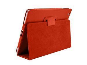 Cover Cases for New Apple iPad Mini - Flip Folio PU Leather Sleep Wake Function Premium Skin Protective Case Cover ORANGE
