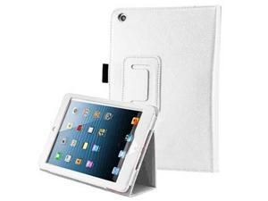 Premium Luxury PU Leather 360 Degree Rotating Flip Case Cover for Apple iPad Mini - White Color