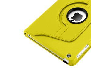 Cover Cases for New Apple iPad Mini - Smart 360 Degree Rotating Premium Leather Stand Protective Case Cover YELLOW