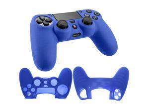 Silicone Rubber Soft Case Gel Skin Cover for SONY PlayStation 4 PS4 Controller BLUE