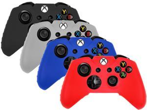 Pack of 4 Silicone Rubber Soft Case Gel Skin Cover for XboxOne Microsofy Xbox One Controller - New