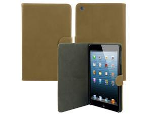 Cover Case for Apple iPad Mini - Luxury Leather Sleep Wake Magnetic Flip Stand Cover Skin Case LIGHT BROWN