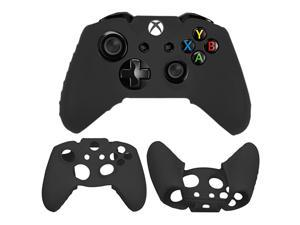 Flexible Silicone Protective Skin Case for Xbox One Gaming Controller (Black)
