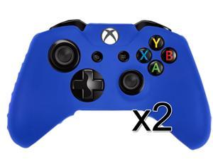 2 X Flexible Silicone Protective Skin Case for Xbox One XboxOne Gaming Controller (Blue)