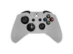 2X Soft Silicone Rubber Cover Case Skin for Microsoft Xbox One Controller White