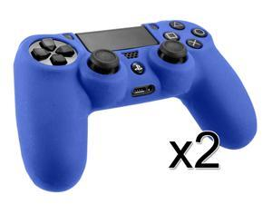 2Pcs - Premium Silicone Skin Protective Case Cover For Sony PS4 Playstation 4 Controller BLUE