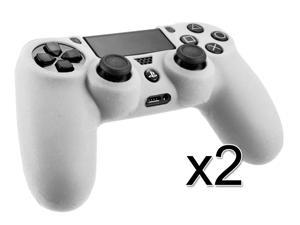 2 Pack - White Silicone Skin Protective Case Cover For New Sony PS 4 Playstation 4 Controller
