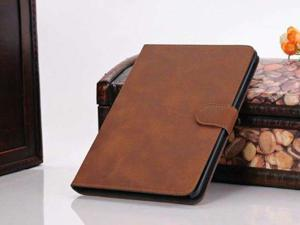 For Apple iPad Mini - Luxury Leather Flip Stand Cover Skin Protective Case Pouch BROWN