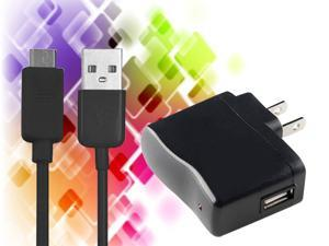 Black US Wall AC Charger Adapter + 6FT Micro USB Cable for Kindle Fire HD 7 Inc 8.9 Inc Tablet / Samsung Galaxy S2 / S3 / ...