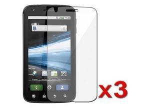New Screen Guard Protector Anti-Glare Film for For Motorola Atrix 4g 4G - New Bulk 3 Pack