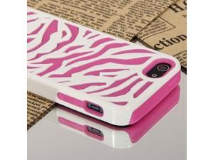 Newest Apple® iPhone® 5S / 5 / 5G Zebra Series Dual Flex Hard & Soft Hybrid Back Case Cover - AT&T / Verizon