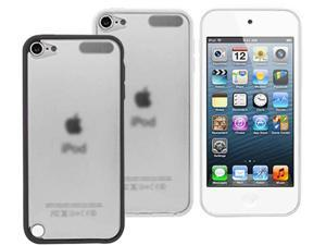 2 Pack - Transparent Hard Clear Back TPU Border Cover Case For Apple ipod Touch 5G 5 G