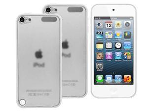 Apple iPod Touch 5 5G White Frosted Clear Hard Back TPU Bumper Cover Case - 2 Pack