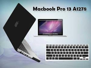 "Premium Rubberized Case Cover+ Screen Protector + Keyboard Cover  for Macbook Pro® 13"" (Black)"