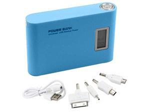 NEW 12000mAh LCD Dual USB External Power Bank Battery Replacement Backup Charger For Mobile Cell Phone Tablet PC BLUE